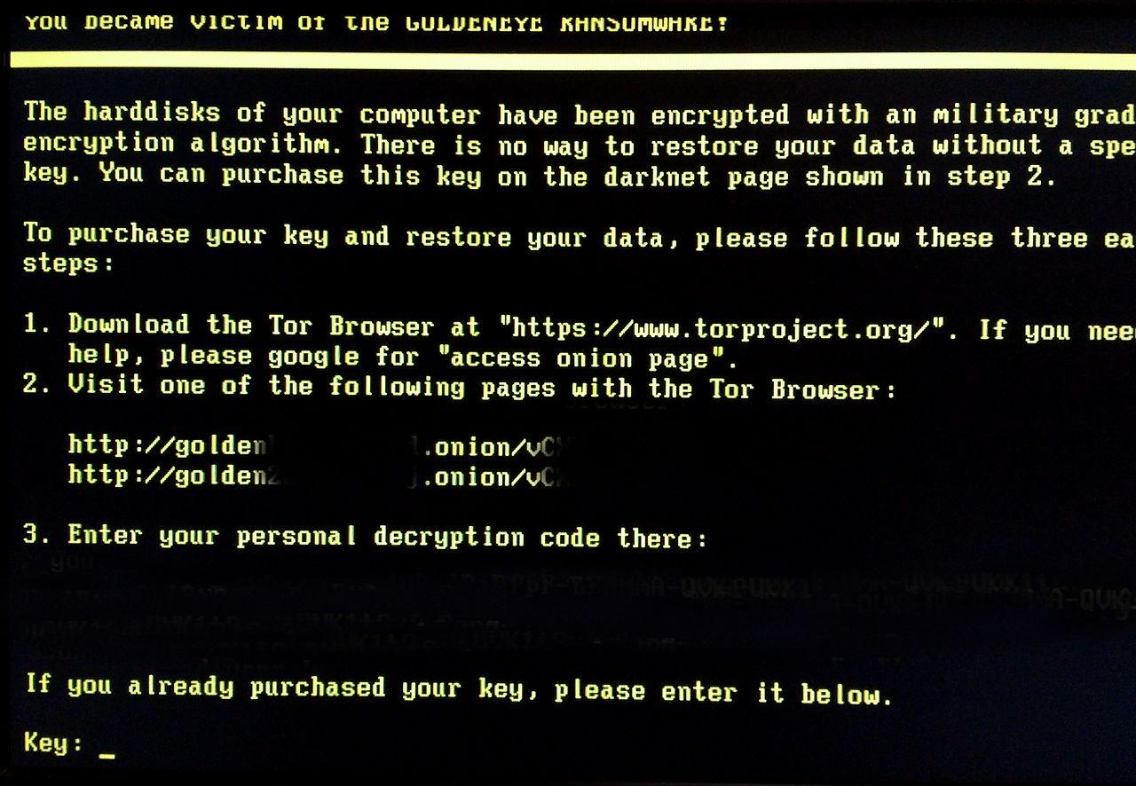goldeneye ransomware 161212