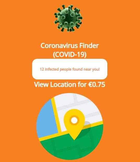 ginp trojan coronavirus finder screenshot 1