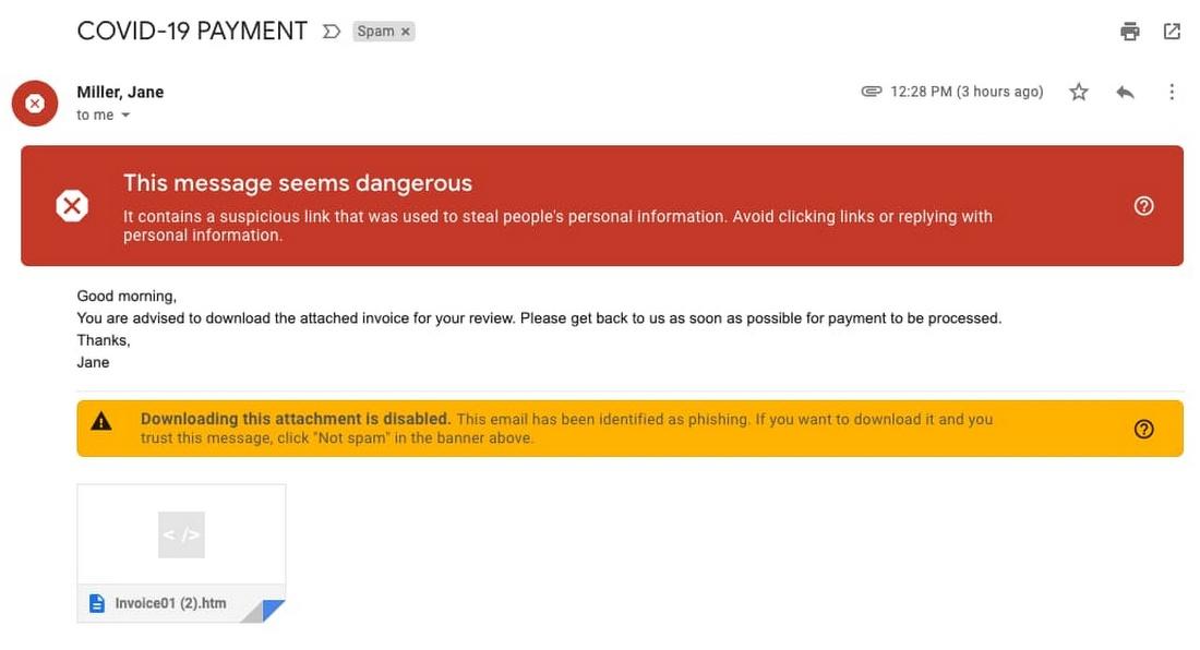 phishing richiesta soldi