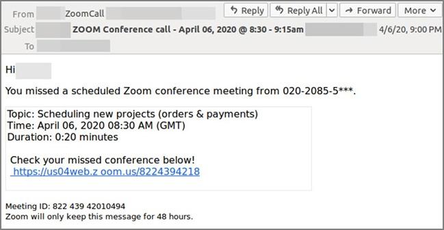 phishing zoom