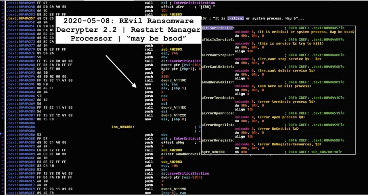 decryptor restart manager