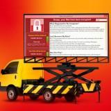 Ransomware contro slot machines e cartelloni pubblicitari