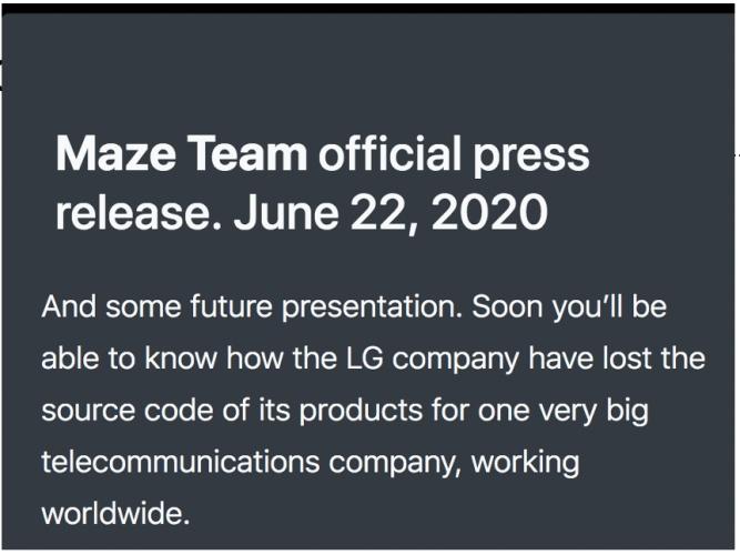 maze lg electronics hack2