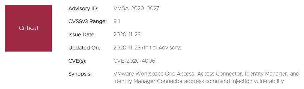 vmware bug