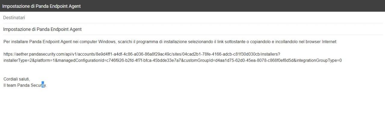 email installazione