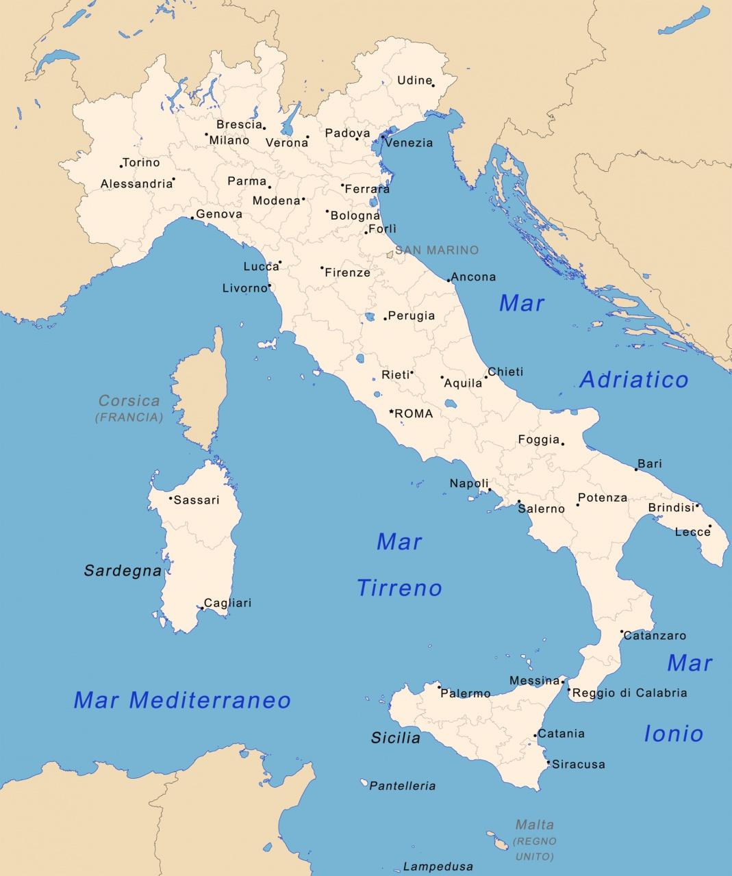 italia cartina